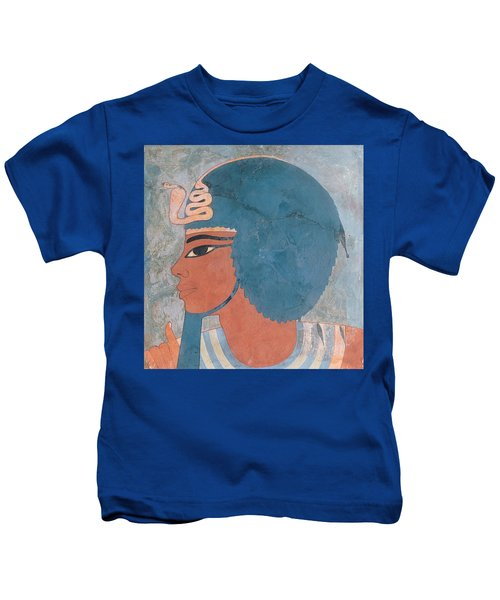 Head Of Amenophis IIi From The Tomb Of Onsou, 18th Dynasty Kids T-Shirt