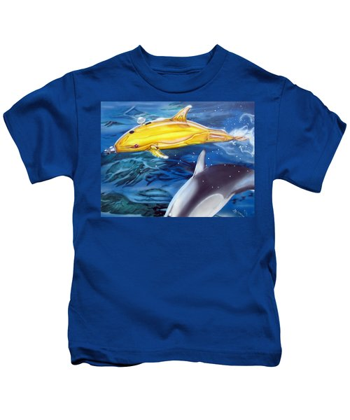 High Tech Dolphins Kids T-Shirt