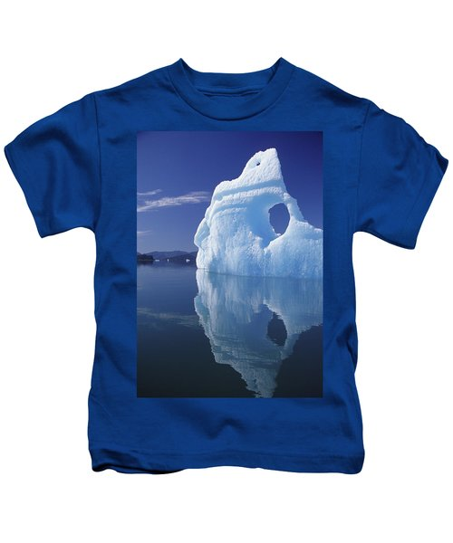 Huge Iceberg With Hole, Leconte Bay Kids T-Shirt