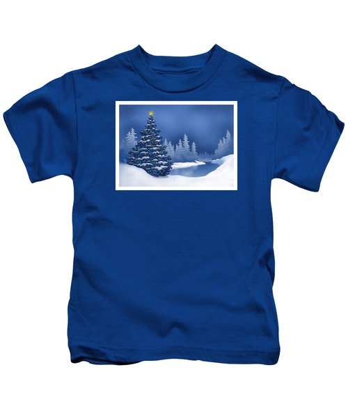 Icy Blue Kids T-Shirt