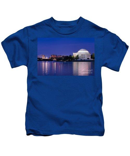 Jefferson Memorial Twilight Kids T-Shirt