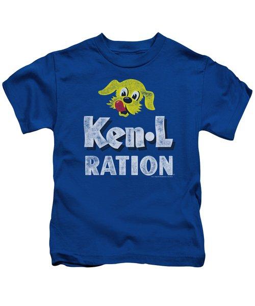 Ken L Ration - Distressed Logo Kids T-Shirt