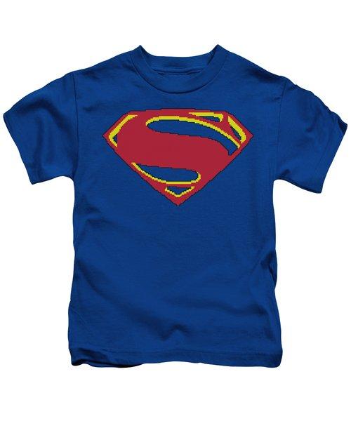 Man Of Steel - 8 Bit Shield Kids T-Shirt