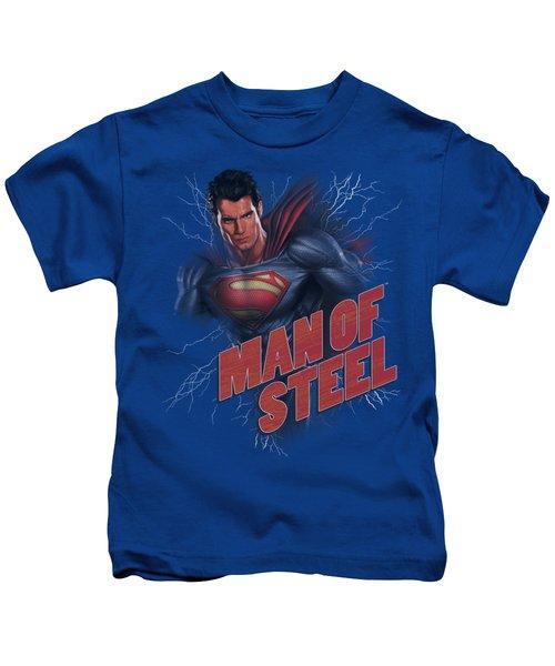 Man Of Steel - Lightning Power Kids T-Shirt