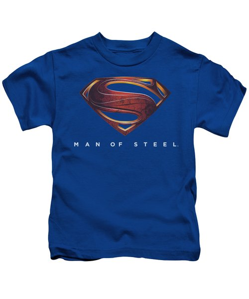 Man Of Steel - Mos New Logo Kids T-Shirt