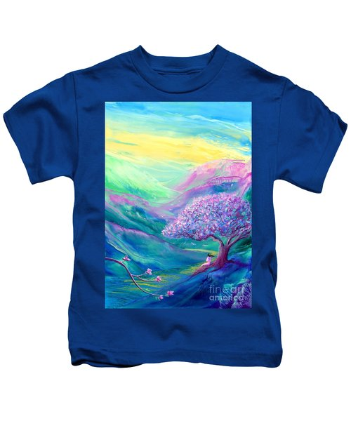 Meditation In Mauve Kids T-Shirt