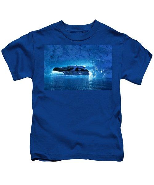 Melting Ice Cave Antarctica Kids T-Shirt
