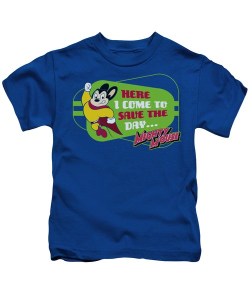 Mighty Mouse - Here I Come Kids T-Shirt