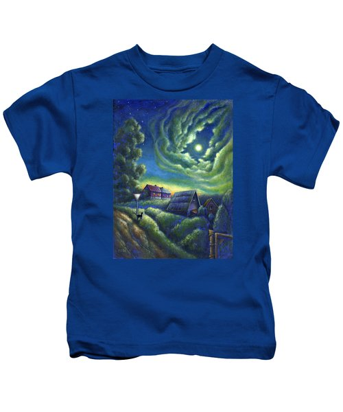 Moonlit Dreams Come True Kids T-Shirt