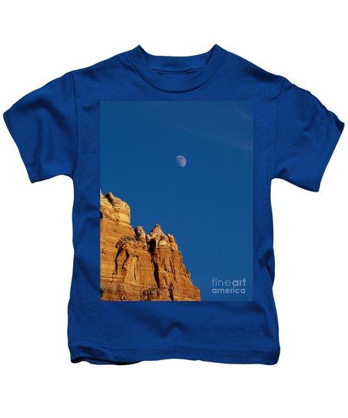 Moonrise Over Sandstone Kids T-Shirt