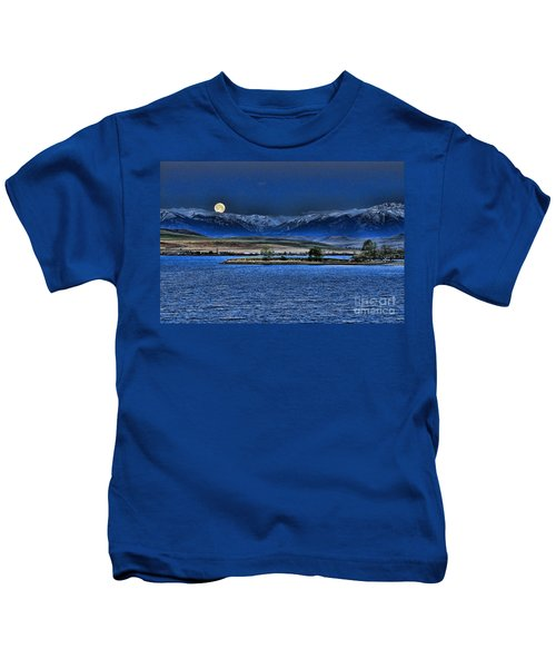 Moonset Over Cooney Kids T-Shirt