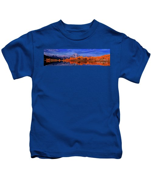 Mount Moran And Fall Color Grand Tetons Kids T-Shirt