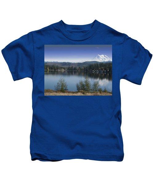 Mount Rainier In The Fall Kids T-Shirt