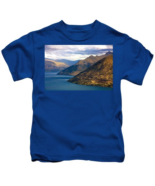 Mountains Meet Lake Kids T-Shirt