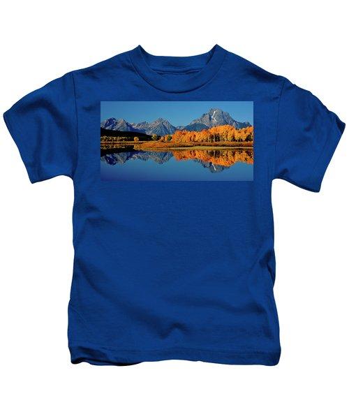 Mt. Moran Reflection Kids T-Shirt
