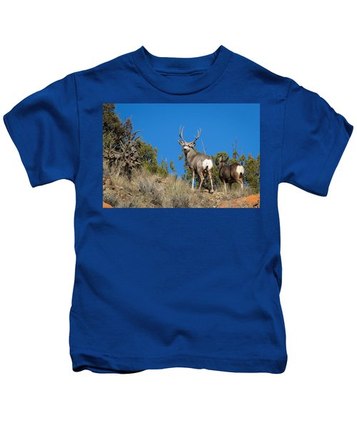 Mule Deer Buck Kids T-Shirt