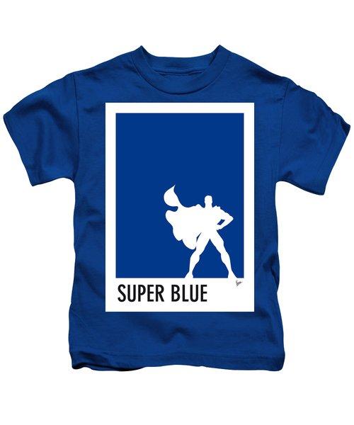 My Superhero 03 Super Blue Minimal Poster Kids T-Shirt