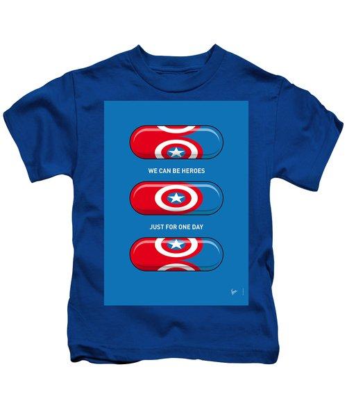 My Superhero Pills - Captain America Kids T-Shirt