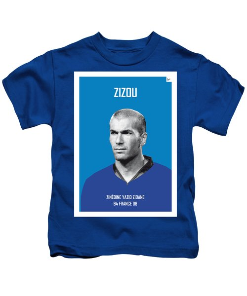 My Zidane Soccer Legend Poster Kids T-Shirt by Chungkong Art