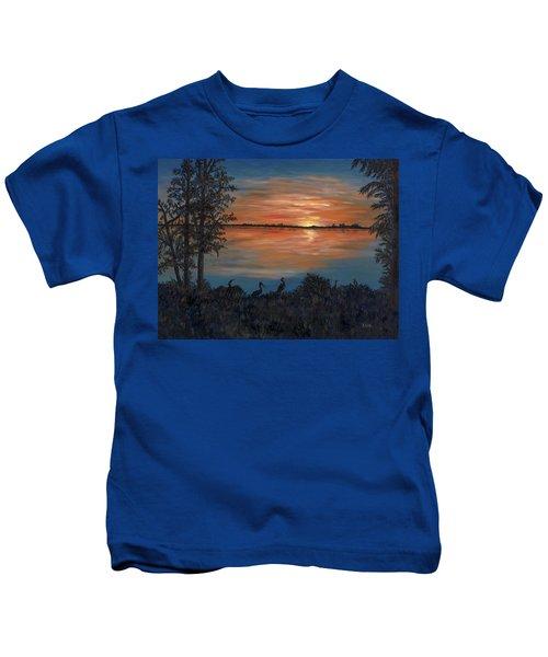 Nightfall At Loxahatchee Kids T-Shirt