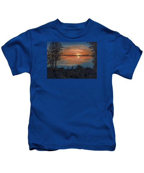Nightfall At Loxahatchee Kids T-Shirt