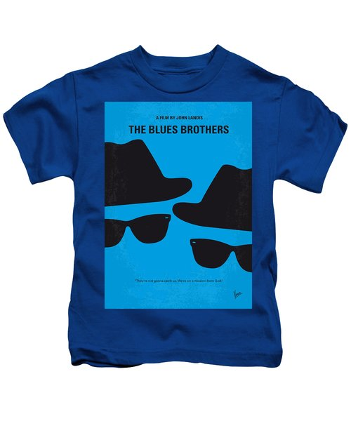 No012 My Blues Brother Minimal Movie Poster Kids T-Shirt by Chungkong Art