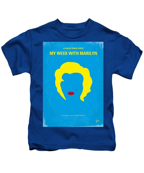 No284 My Week With Marilyn Minimal Movie Poster Kids T-Shirt
