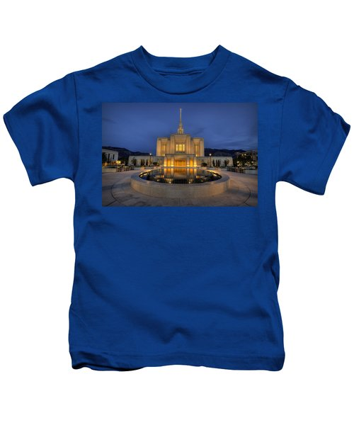 Ogden Temple Reflections Kids T-Shirt
