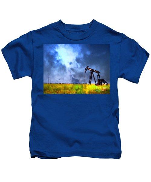 Oil Pump Field Kids T-Shirt