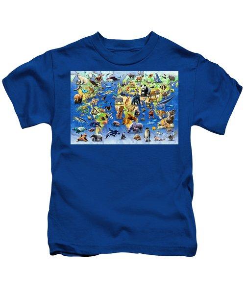 One Hundred Endangered Species Kids T-Shirt