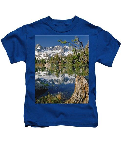 2m6443-v-palisade Peaks And Summit Lake V Kids T-Shirt