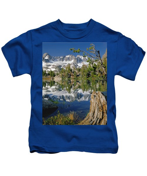 2m6443-v-palisade Peaks And Summit Lake V Kids T-Shirt