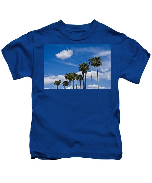 Palm Trees In San Diego California No. 1661 Kids T-Shirt
