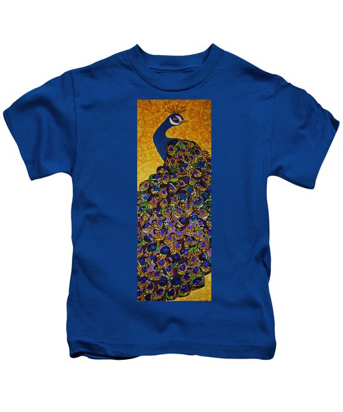 Peacock Blue Kids T-Shirt