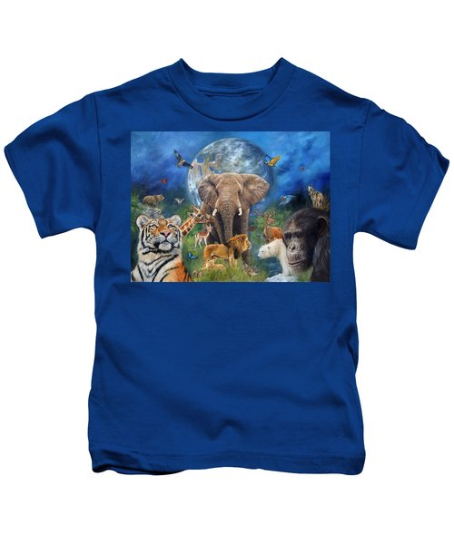 Planet Earth Kids T-Shirt by David Stribbling