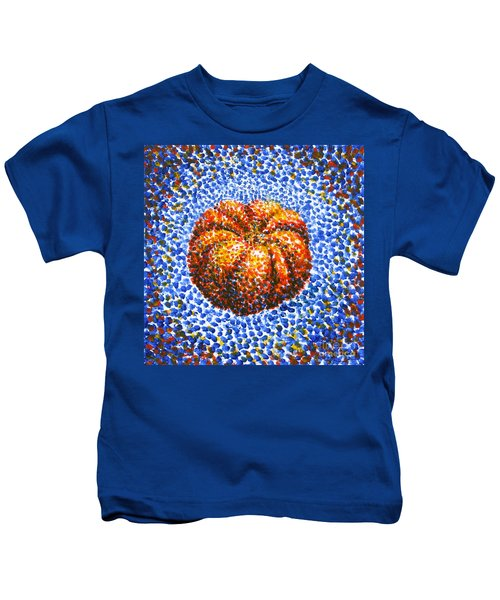 Pointillism Pumpkin Kids T-Shirt