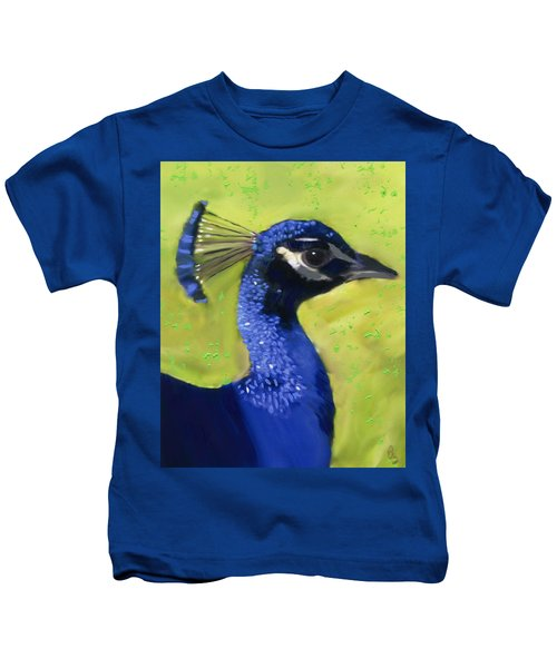 Portrait Of A Peacock Kids T-Shirt