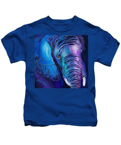 Purple Elephant Kids T-Shirt