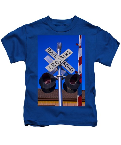 Railroad Crossing Kids T-Shirt