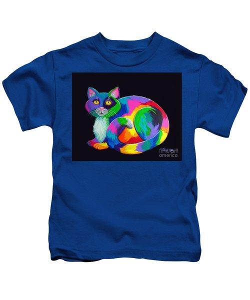 Rainbow Calico Kids T-Shirt