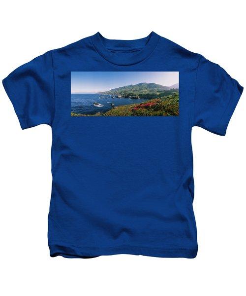 Rocks In The Sea, Carmel, California Kids T-Shirt