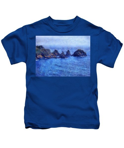 Rocks On Isle Of Guernsey Kids T-Shirt