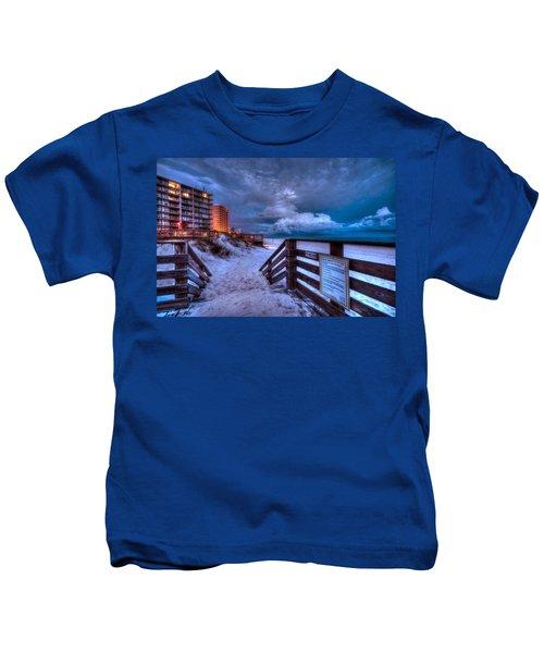 Romar Beach Clouds Kids T-Shirt