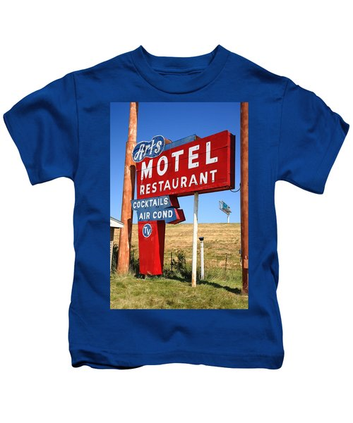 Route 66 - Art's Motel Kids T-Shirt