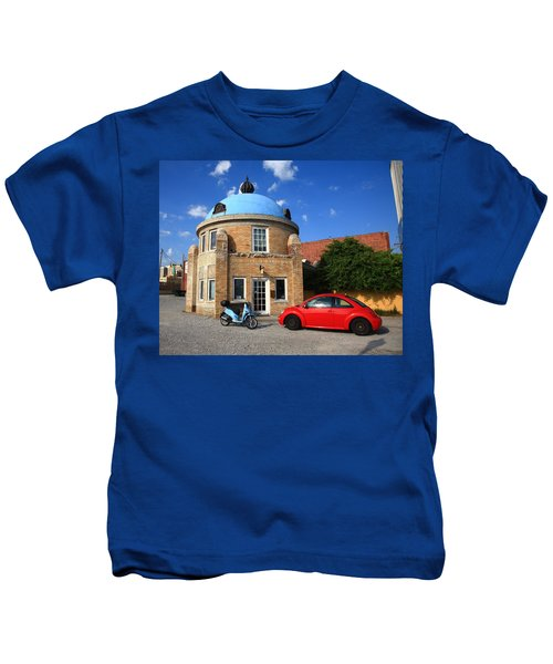 Route 66 - Blue Dome Of Tulsa Kids T-Shirt