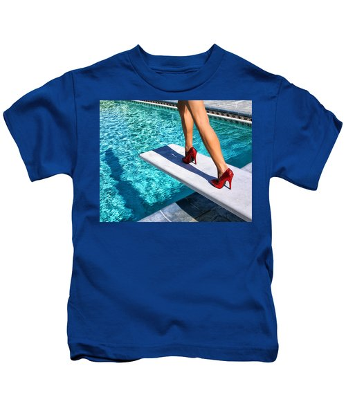 Ruby Heels Ready For Take-off Palm Springs Kids T-Shirt