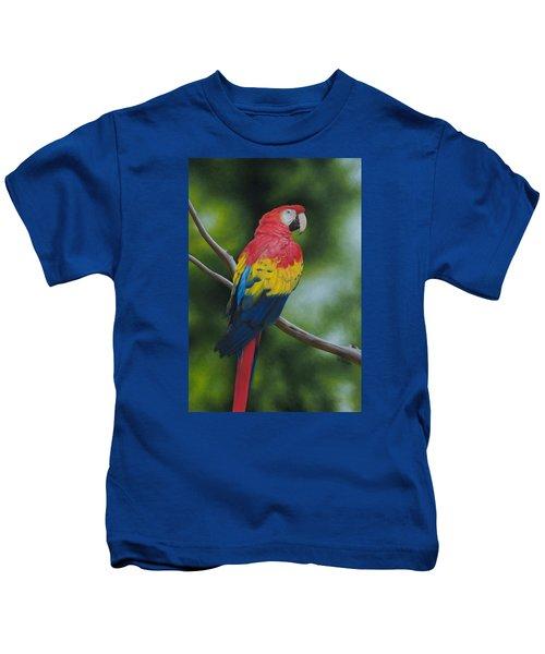 Scarlet Macaw Kids T-Shirt
