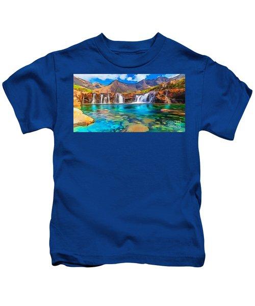 Serene Green Waters Kids T-Shirt
