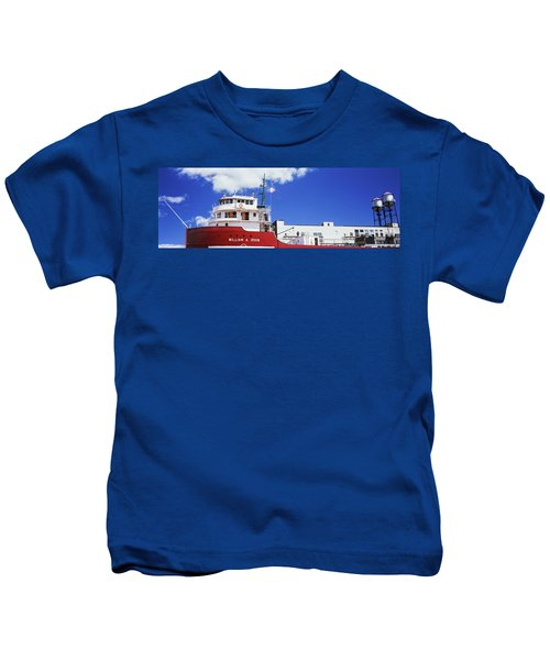 Ship Museum At A Harbor, William A Kids T-Shirt