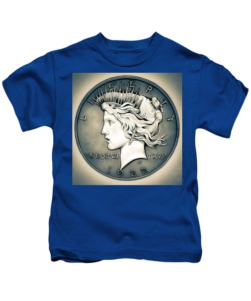 1922 Silver Proof Peace Dollar Kids T-Shirt
